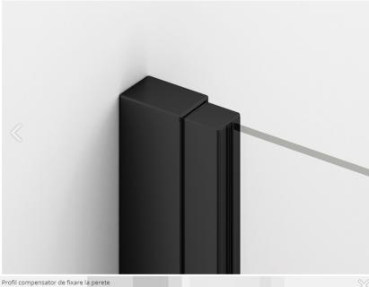Kit inchidere interior-exterior usa de nisa SanSwiss Solino culoare negru mat