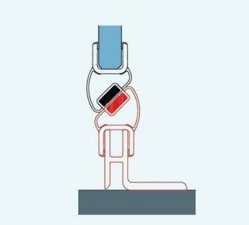 Kit inchidere magnetica usa de nisa SanSwiss Solino culoare negru 198,4 cm